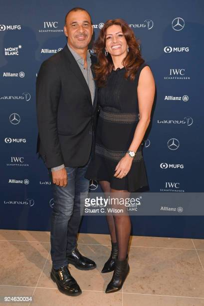 Laureus Academy member Ruud Gullit and guest attend the Laureus Academy Welcome Reception prior to the 2018 Laureus World Sports Awards at the Yacht...