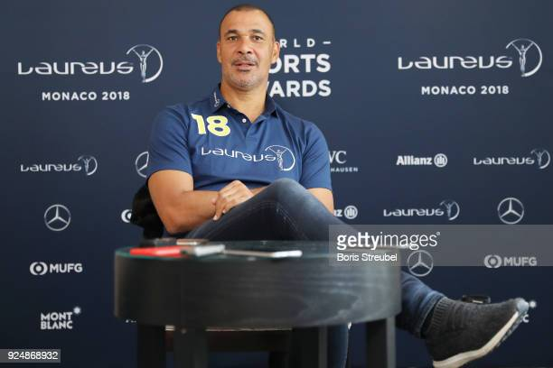 Laureus Academy Member Ruud Gullit is interviewed prior to the Laureus World Sports Awards at the Meridien Beach Plaza on February 27 2018 in Monaco...
