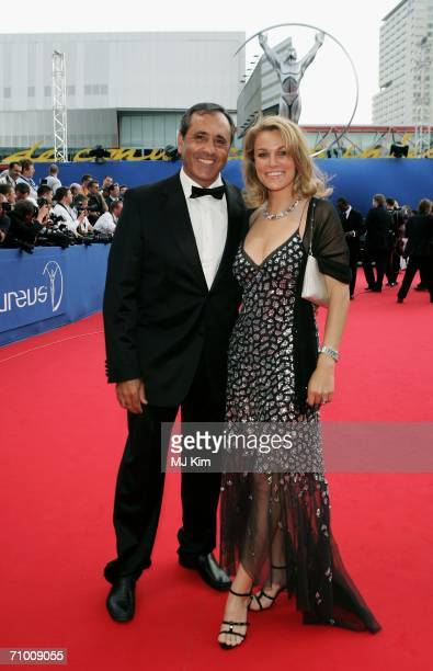 Laureus Academy member Severiano Ballesteros and guest arrive at the Laureus World Sports Awards held at the Parc del Forum on May 22 2006 in...