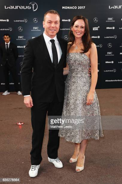 Laureus Academy member Sir Chris Hoy and guest attend the 2017 Laureus World Sports Awards at the Salle des EtoilesSporting Monte Carlo on February...