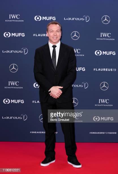 Laureus Academy Member Sir Chris Hoy arrives for the 2019 Laureus World Sports Awards on February 18 2019 in Monaco Monaco