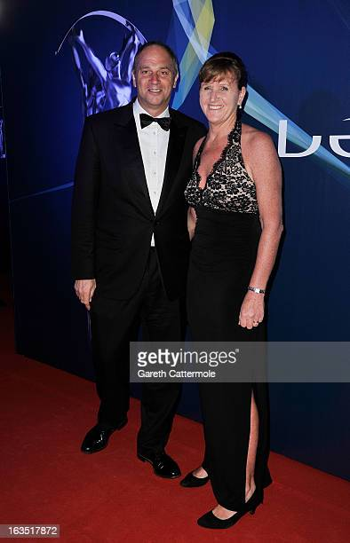 Laureus Academy Member Sir Steve Redgrave and guest attends the 2013 Laureus World Sports Awards at the Theatro Municipal Do Rio de Janeiro on March...
