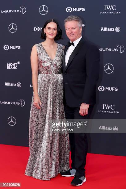 Laureus Academy Member Steve Waugh and Lynette Waugh attend the 2018 Laureus World Sports Awards at Salle des Etoiles Sporting MonteCarlo on February...