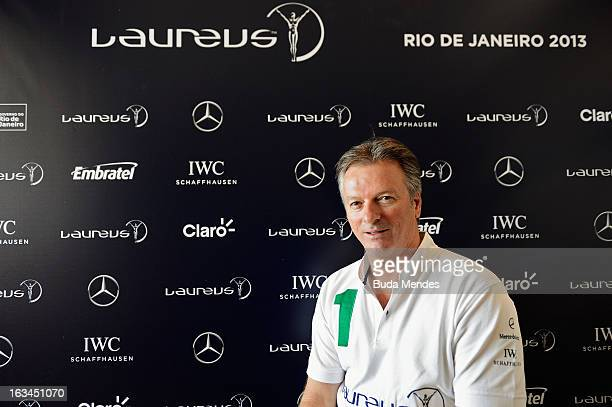 Laureus Academy Member Steve Waugh is interviewed during day 2 of the 2013 Laureus World Sports Awards on March 9, 2013 in Rio de Janeiro, Brazil.