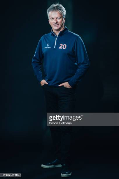 Laureus Academy member Steve Waugh poses at the Mercedes Benz Building prior to the 2020 Laureus World Sports Awards on February 16, 2020 in Berlin,...