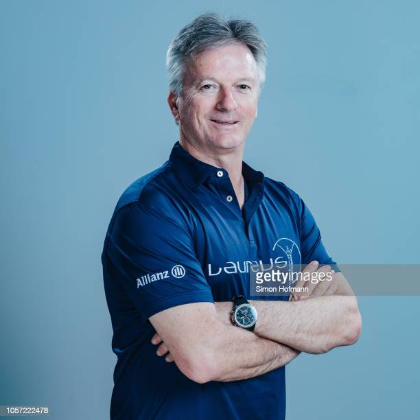 Laureus Academy Member Steve Waugh poses for a portrait during the Laureus Sport for Good Global Summit in partnership with Allianz at INSEP on...