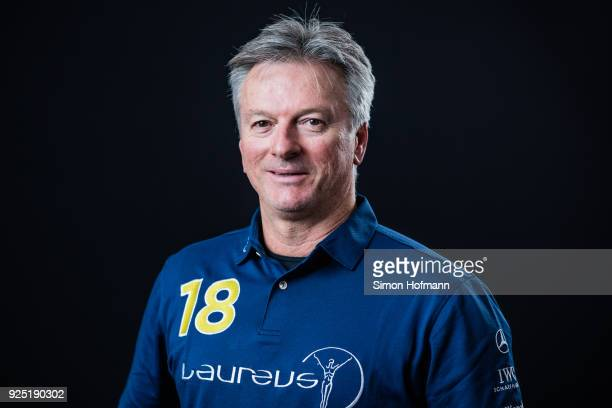 Laureus Academy member Steve Waugh poses prior to the 2018 Laureus World Sports Awards at Le Meridien Beach Plaza Hotel on February 26 2018 in Monaco...