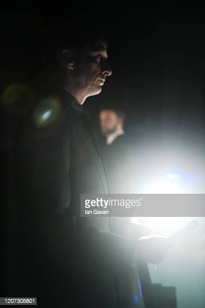 Laureus Academy Member Tony Hawk backstage during the 2020 Laureus World Sports Awards at Verti Music Hall on February 17 2020 in Berlin Germany
