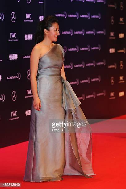 Laureus Academy Member Yang Yang attends the 2015 Laureus World Sports Awards at Shanghai Grand Theatre on April 15 2015 in Shanghai China