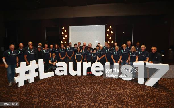 Laureus Academy members pose prior to the 2017 Laureus World Sports Awards at the Hotel Hermitage on February 13 2017 in Monaco Monaco