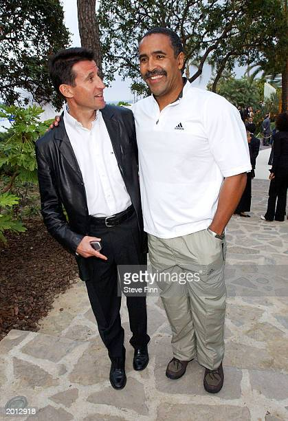 Laureus Academy Members Sebastian Coe with Daley Thompson attend the Laureus Sport for Good Foundation Dinner and Auction at the Monte Carlo Sporting...