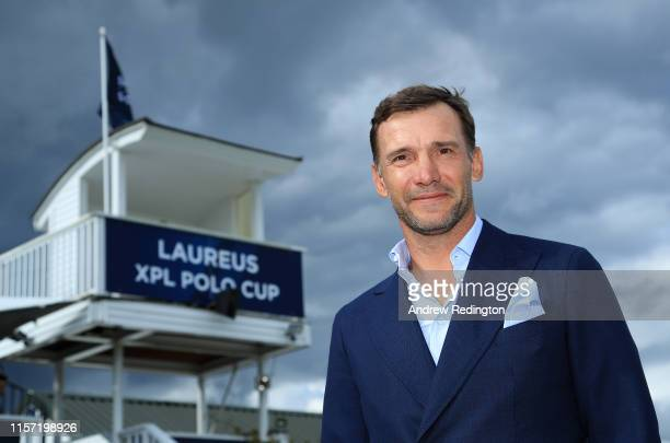 Laureus Ambassador Andriy Shevchenko is pictured during the Laureus Polo Cup 2019 at Ham Polo Club on June 20 2019 in London England