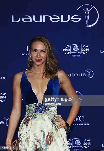 Laureus Ambassador Angelika Timanina attends the 2014 Laureus World Sports Awards at the Istana Budaya Theatre on March 26 2014 in Kuala Lumpur...
