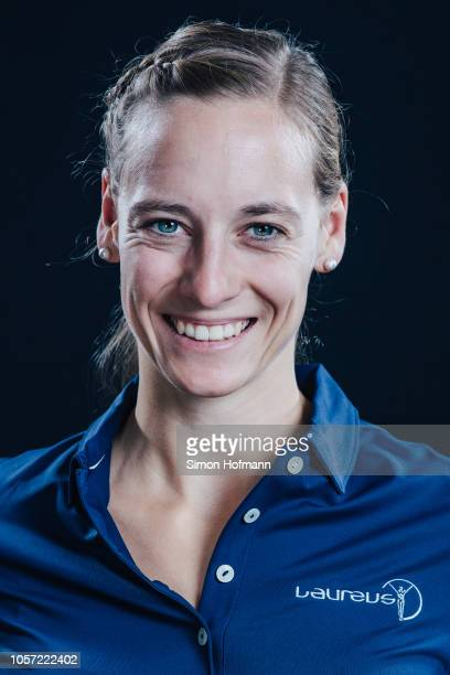 Laureus Ambassador Anna Schaffelhuber poses for a portrait during the Laureus Sport for Good Global Summit in partnership with Allianz at INSEP on...