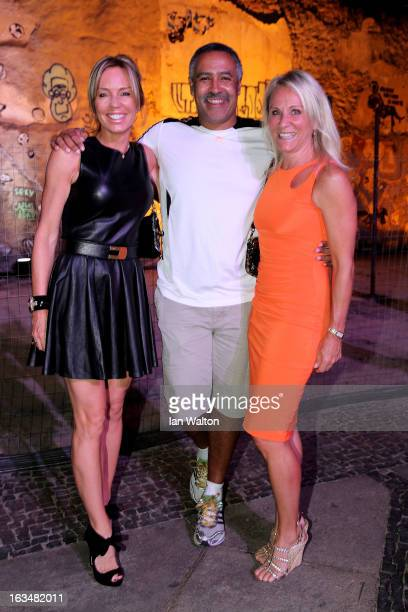 Laureus Ambassador Annabelle Bond and Laureus Academy Member Daley Thompson attend the Laureus Welcome Party at the Rio Scenarium during the 2013...