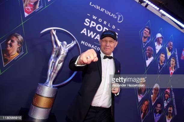 Laureus Ambassador Axel Schulz poses during the 2019 Laureus World Sports Awards on February 18 2019 in Monaco Monaco