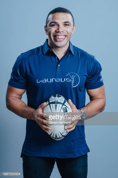 Laureus Ambassador Bryan Habana poses for a portrait during the Laureus Sport for Good Global Summit in partnership with Allianz at INSEP on October...
