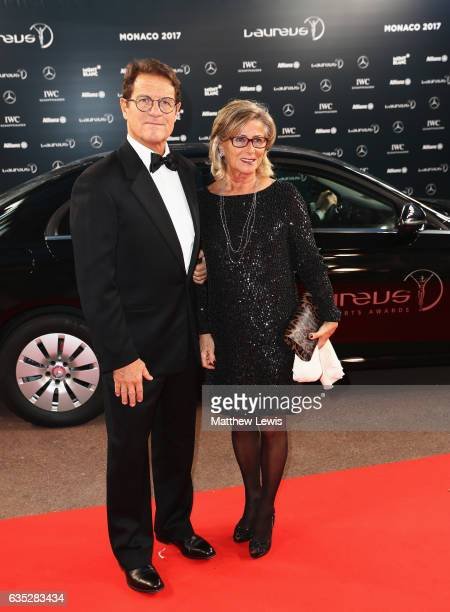 Laureus Ambassador Fabio Capello and guest attend the 2017 Laureus World Sports Awards at the Salle des EtoilesSporting Monte Carlo on February 14...