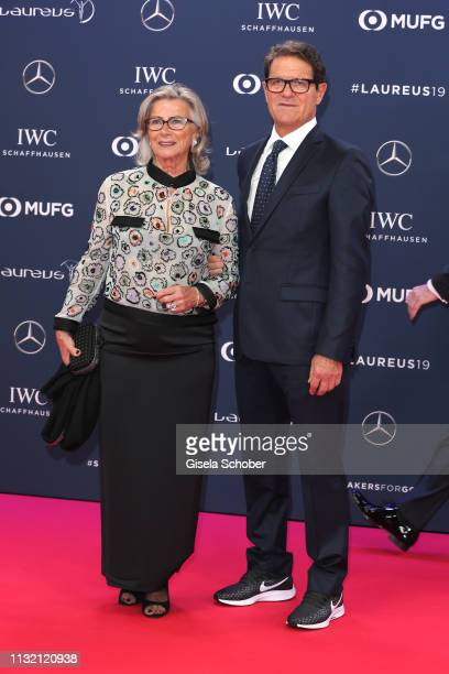 Laureus Ambassador Fabio Capello and Laura Ghisi during the Laureus World Sports Awards 2019 at Monte Carlo Sporting Club on February 18 2019 in...
