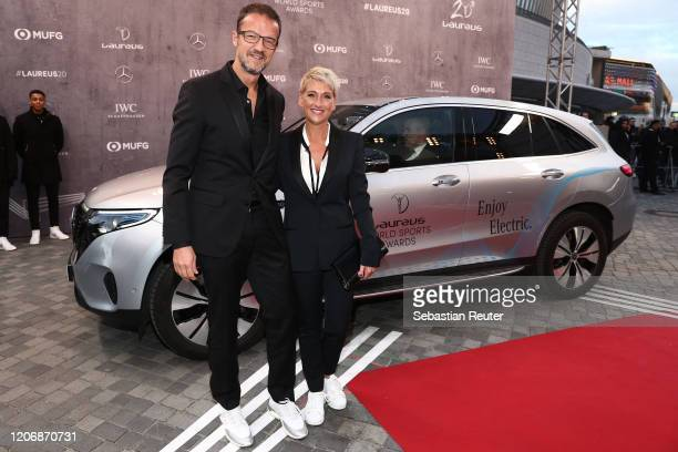 Laureus Ambassador Fredi Bobic and wife Britta Bobic attend the 2020 Laureus World Sports Awards at Verti Music Hall on February 17 2020 in Berlin...