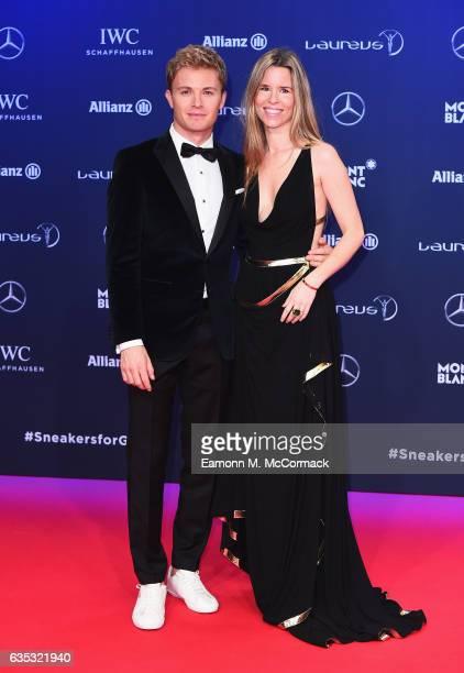 Laureus Ambassador Nico Rosberg and Vivian Rosberg attend the 2017 Laureus World Sports Awards at the Salle des EtoilesSporting Monte Carlo on...