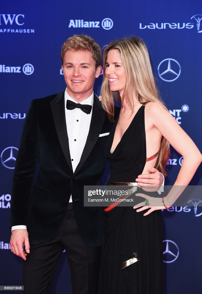 Laureus Ambassador Nico Rosberg and Vivian Rosberg attend the 2017 Laureus World Sports Awards at the Salle des Etoiles,Sporting Monte Carlo on February 14, 2017 in Monaco, Monaco.