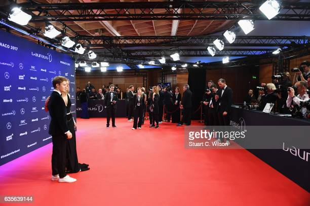 Laureus Ambassador Nico Rosberg and Vivian Rosberg attends the 2017 Laureus World Sports Awards at the Salle des EtoilesSporting Monte Carlo on...