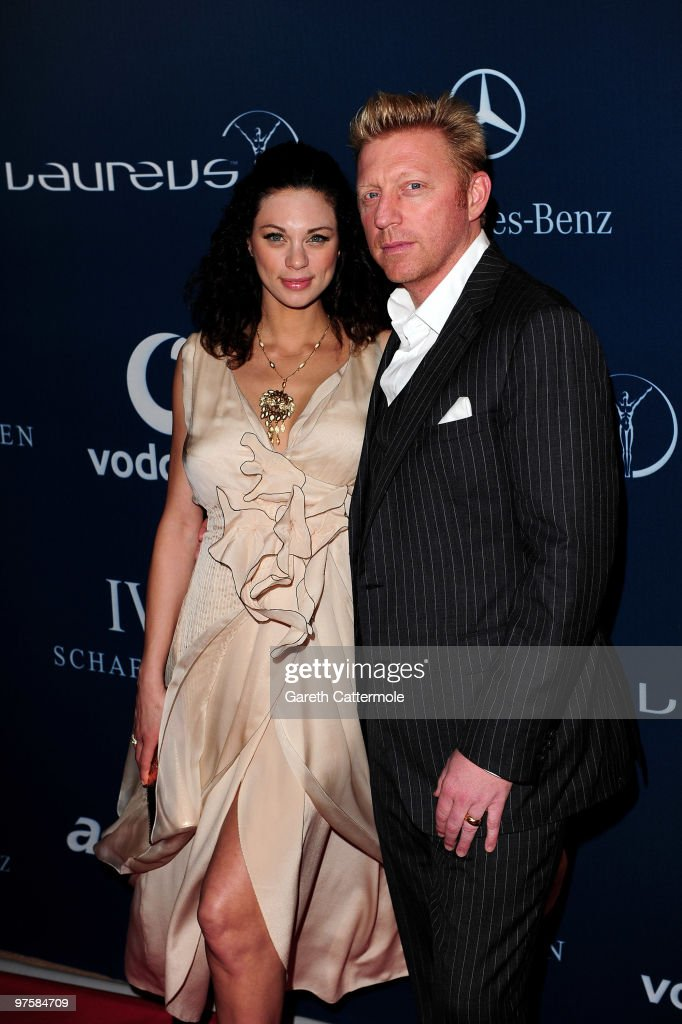 Laureus Sports Academy Boris Becker and his wife Sharlely Becker attend the Laureus Welcome Party part of the Laureus Sports Awards 2010 at the Fairmount Hotel on March 9, 2010 in Abu Dhabi, United Arab Emirates.