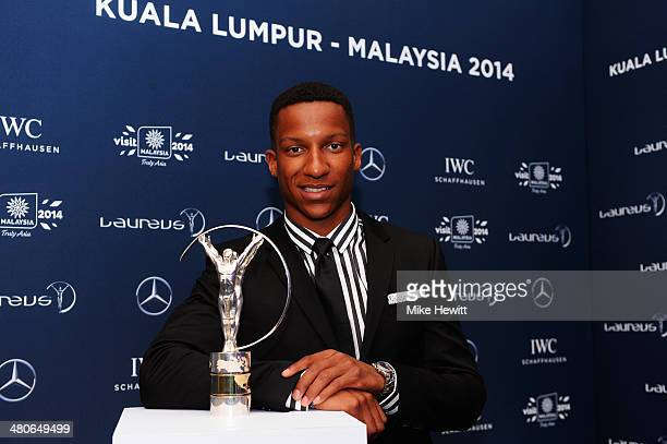 Laureus World Breakthrough of the Year nominee and athlete Raphael Holzdeppe attends the 2014 Laureus World Sports Awards at the Istana Budaya...