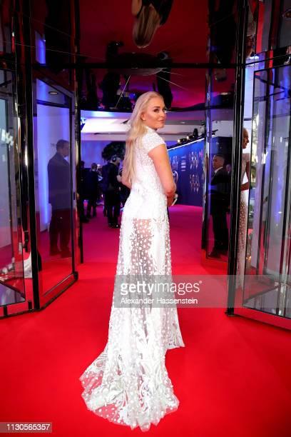 Laureus World Comeback Of The Year 2019 Nominee Lindsey Vonn arrives for the 2019 Laureus World Sports Awards on February 18 2019 in Monaco Monaco