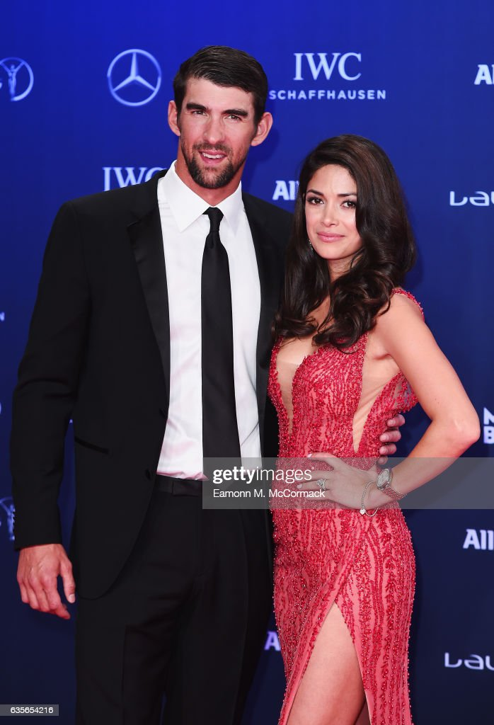 Laureus World Comeback of the Year nominee Swimmer Michael Phelps of the US and Nicole Phelps attend the 2017 Laureus World Sports Awards at the Salle des Etoiles,Sporting Monte Carlo on February 14, 2017 in Monaco, Monaco.