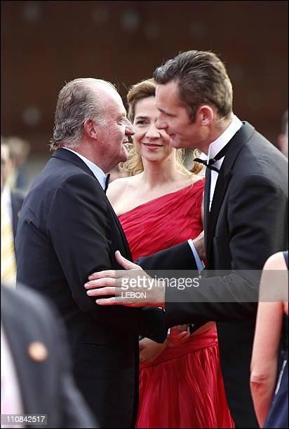 Laureus World Sport Awards In Barcelona Spain On May 21 2006 King Juan Carlos and daughter Infanta Cristina with husband Inaki Urdangarin