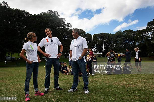 Laureus World Sports Academy Ambassador's and Olympic triathlon champions Emma Snowsill Jan Frodeno and member Mick Doohan are joined by Indigenous...