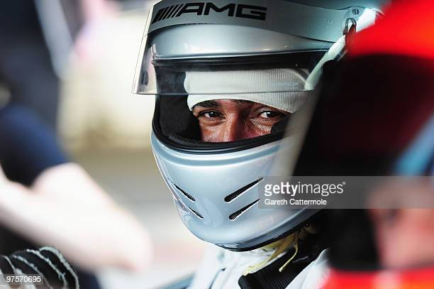 Laureus World Sports Academy member Daley Thompson attends the Laureus Driving Experience for Good part of the Laureus Sports Awards 2010 at the Yas...