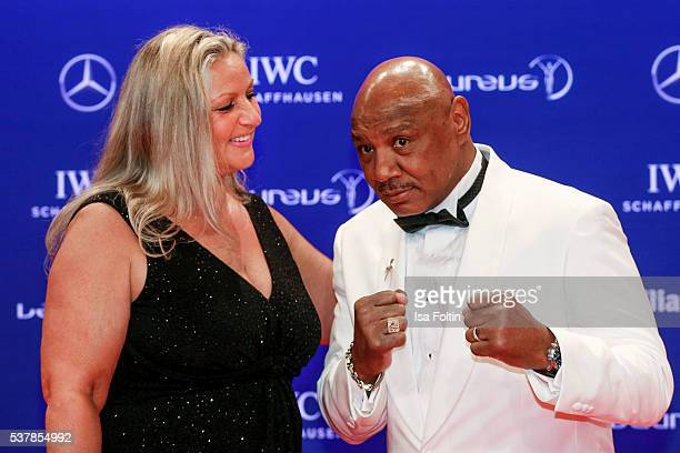 Laureus World Sports Academy member Marvelous Marvin Hagler and his wife Kay Guarrera attends the Laureus World Sports Awards 2016 on April 18 2016...