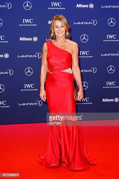 Laureus World Sports Academy member Nadia Comaneci attends the Laureus World Sports Awards 2016 on April 18 2016 in Berlin Germany