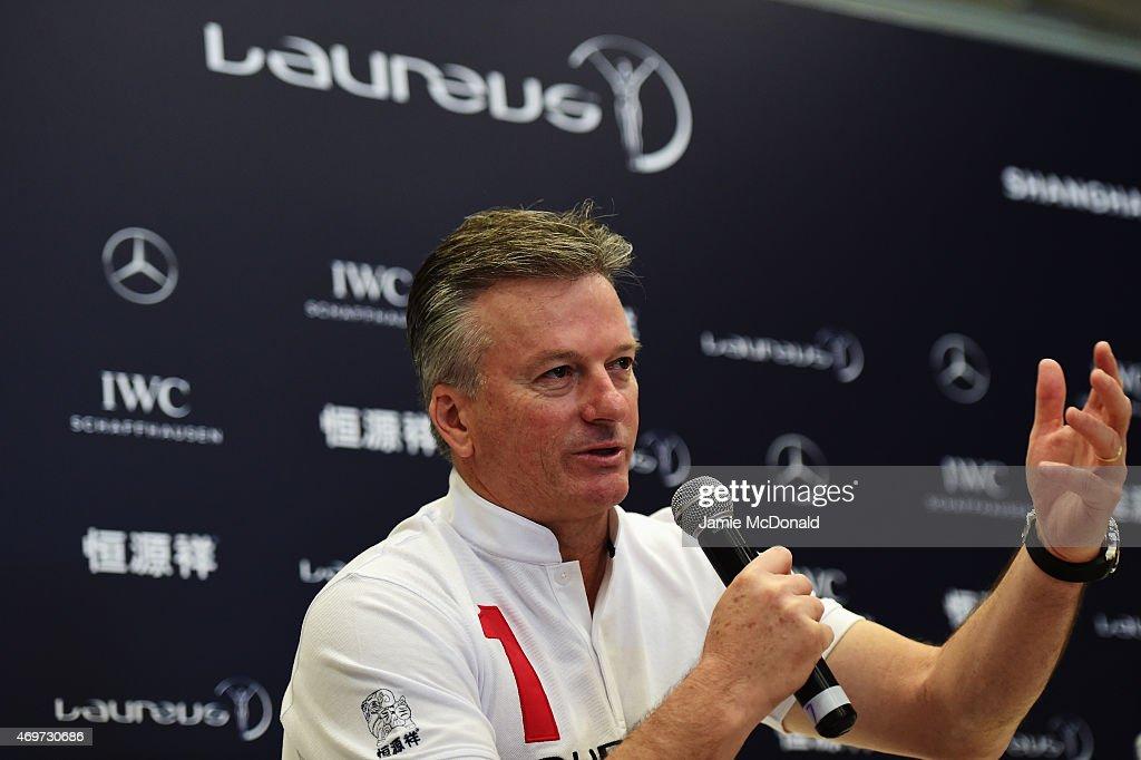 Media Interviews - Laureus World Sports Awards - Shanghai 2015 : News Photo
