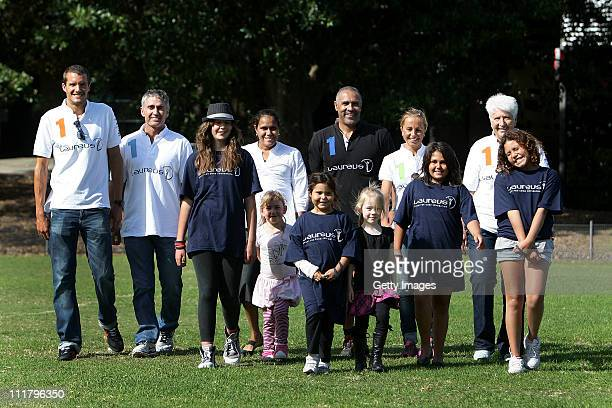 Laureus World Sports Academy Members and Amabassadors Jan Frodeno Mick Doohan Cathy Freeman Daley Thompson Emma Snowsill and Dawn Fraser are joined...