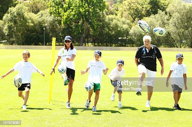Laureus World Sports Academy members Sir Ian Botham, Steve Waugh and Dawn Fraser along with Laureus Friends & Ambassadors Layne Beachely and Michael...