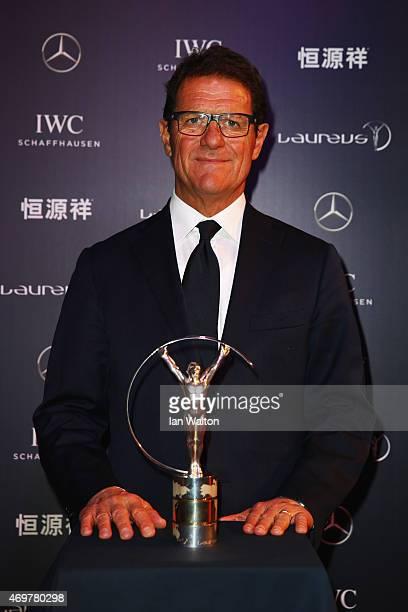 Laureus World Sports Ambassador Fabio Capello attends the 2015 Laureus World Sports Awards at Shanghai Grand Theatre on April 15 2015 in Shanghai...