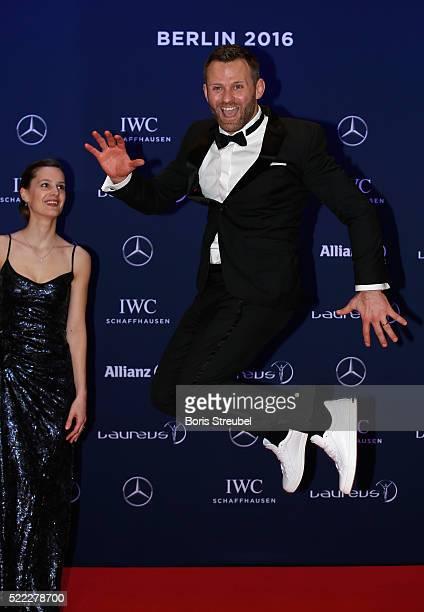 Laureus World Sports Ambassador Ole Bischof attends the 2016 Laureus World Sports Awards at Messe Berlin on April 18 2016 in Berlin Germany