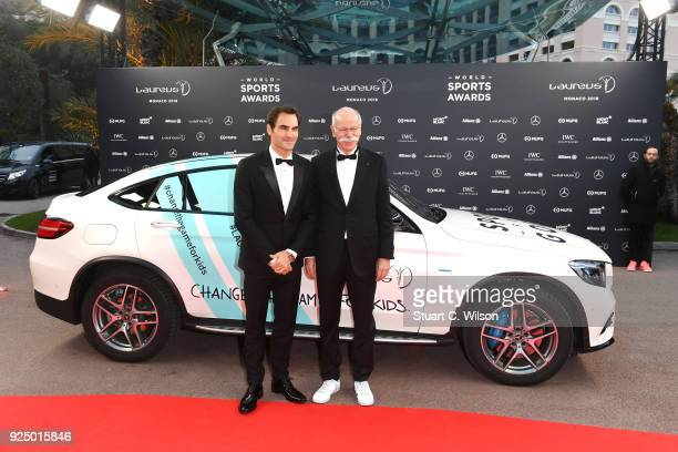 Laureus World Sportsman and Comeback of the Year of the Year 2018 Nominee Tennis player Roger Federer with Chairman of the Management Board of...