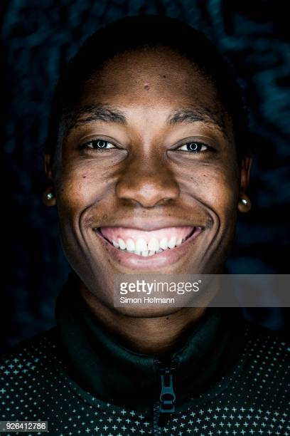 Laureus World Sportsman of the Year 2018 Nominee Athlete Caster Semenya poses prior to the 2018 Laureus World Sports Awards at Le Meridien Beach...