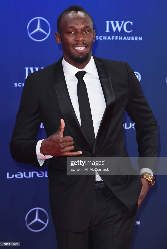 Laureus World Sportsman of the Year Award nominee Athlete Usain Bolt of Jamaica attends the 2017 Laureus World Sports Awards at the Salle des Etoiles,Sporting Monte Carlo on February 14, 2017 in Monaco, Monaco.