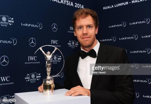 Laureus World Sportsman of the Year nominee and motor racing driver Sebastian Vettel attends the 2014 Laureus World Sports Awards at the Istana...