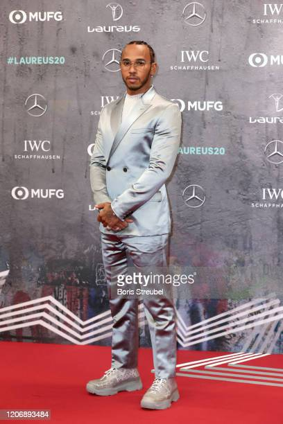 Laureus World Sportsman of the Year nominee Lewis Hamilton attends the 2020 Laureus World Sports Awards at Verti Music Hall on February 17 2020 in...