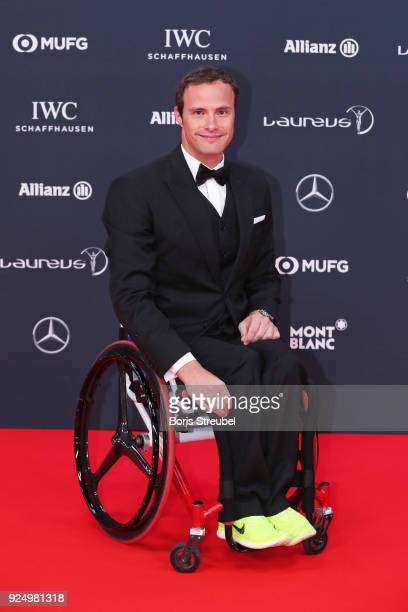 Laureus World Sportsperson of the Year with a Disabilty 2018 Nominee Athlete Marcel Hug attends the 2018 Laureus World Sports Awards at Salle des...
