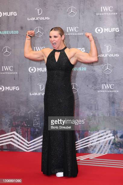 Laureus World Sportsperson of the Year with a Disabilty nominee Oksana Masters attends the 2020 Laureus World Sports Awards at Verti Music Hall on...