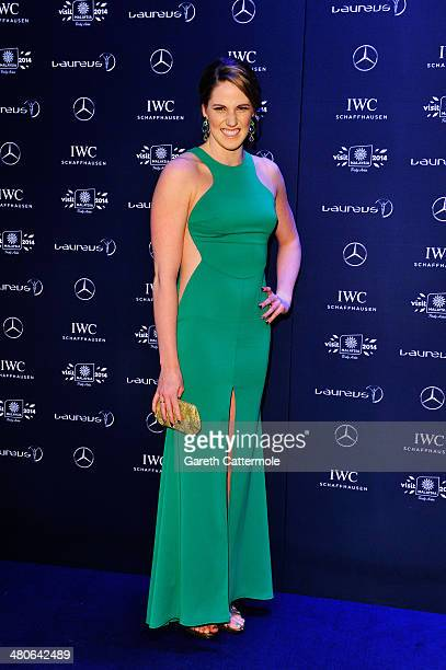 Laureus World Sportswoman of the Year nominee and swimmer Missy Franklin attends the 2014 Laureus World Sports Awards at the Istana Budaya Theatre on...