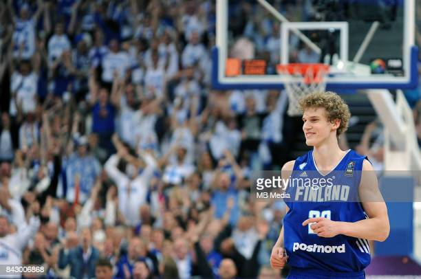 Lauri Markkanen of Finland during the FIBA Eurobasket 2017 Group A match between Greece and Finland on September 5 2017 in Helsinki Finland